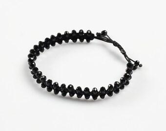 Crystal beaded macrame Bracelet