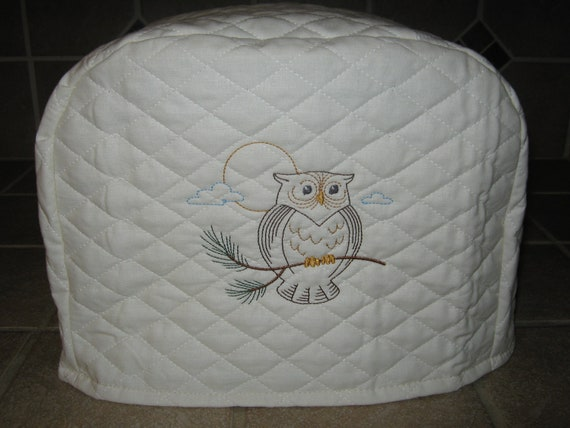 2 slice owl toaster cover by sewnbystacy on etsy. Black Bedroom Furniture Sets. Home Design Ideas