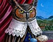 Renaissance Owl Portrait fine art print
