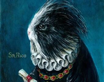 Renaissance Guinea Pig Portrait fine art print