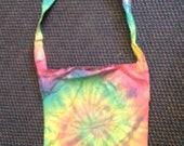 Tie dye sling bag.