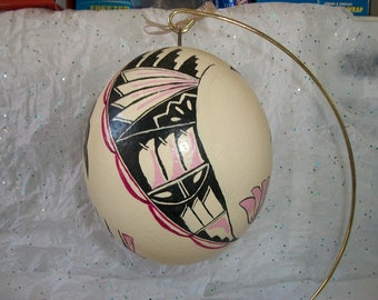 Painted Ostrich Egg with SW flair