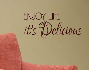 Life Is Delicious Etsy