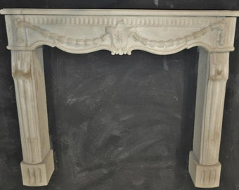 Cast Stone Fireplace mantel French style custom made