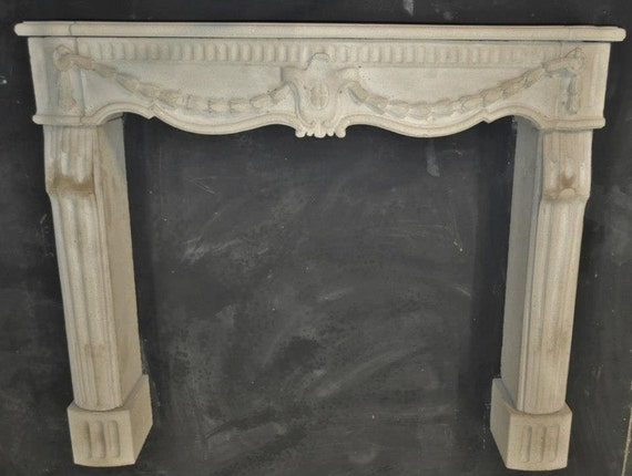Cast stone fireplace mantel french style custom made for French country stone fireplace