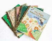 Lot of 5 Christmas Little Golden Books - Twelve Days of Christmas - Sesame Street - Mickey Christmas Carol - Night Before Christmas - Bunny