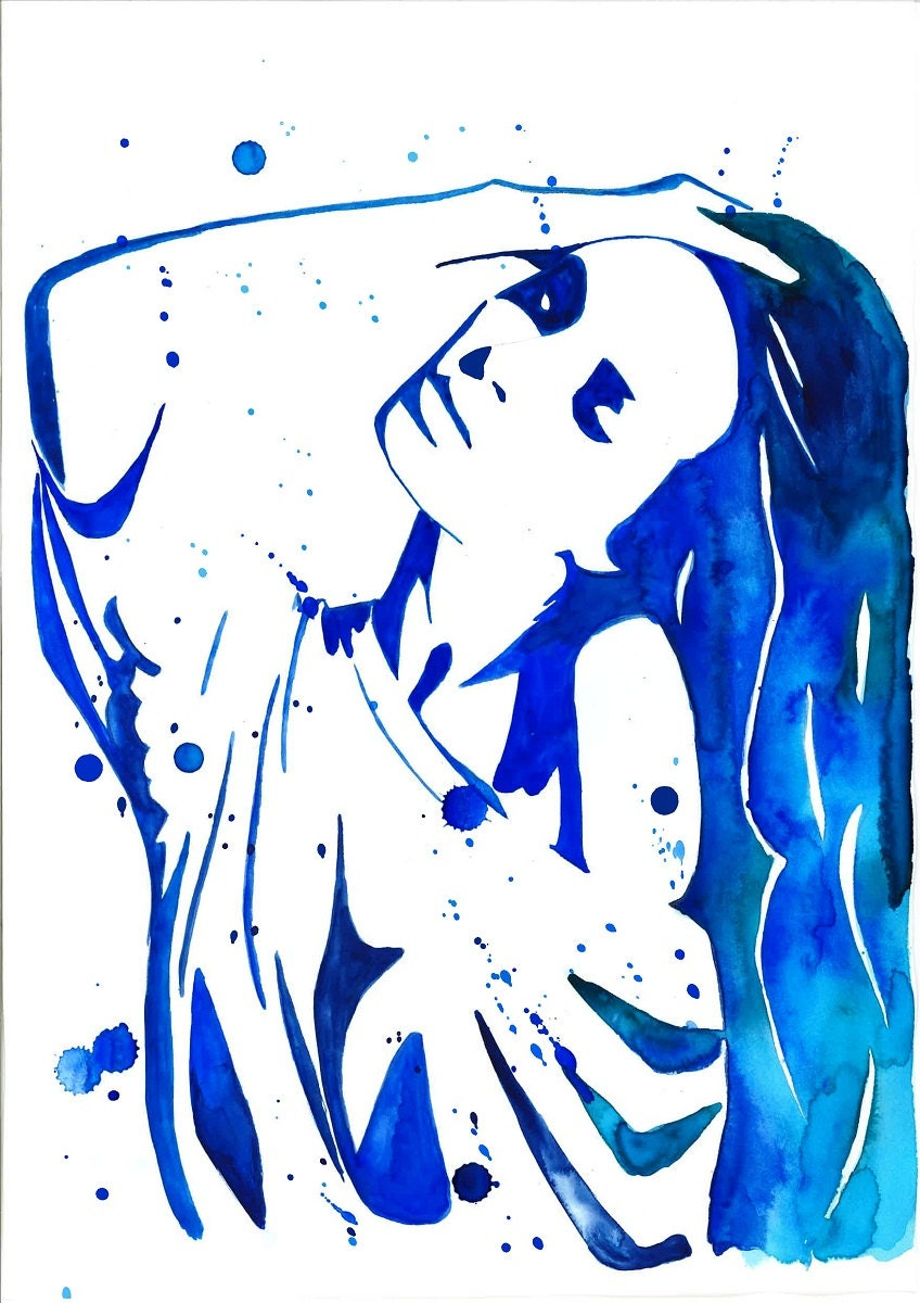 Print from original watercolor fashion illustration by mysoulfly