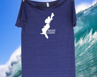 Right Coast East Coast Tee Shirt T-Shirt - Sizes S MD LG and XL