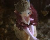 Reserved for Neiau Shie Kinkade  - Fairy Figurine on a dice