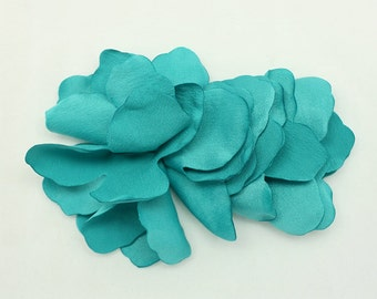 Turquoise Satin Flower Motif Corsage Brooch for Headband, Hair Accessories, Hat, Hair Clips or more Accessories Handmade Annielov Flower 22