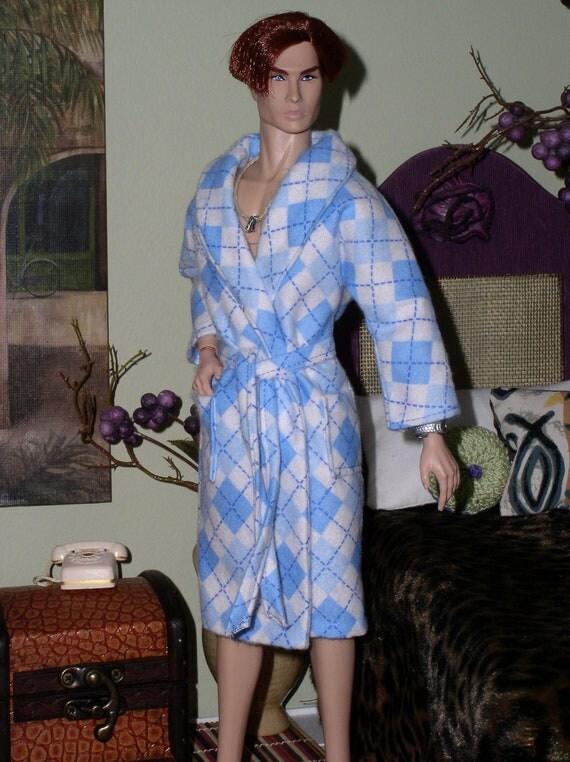 Flannel Robe Ken/Barbie fashion doll clothing