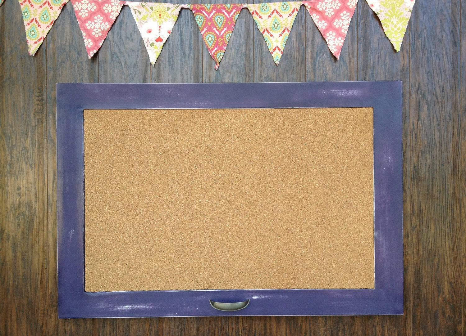 large framed cork board zoom