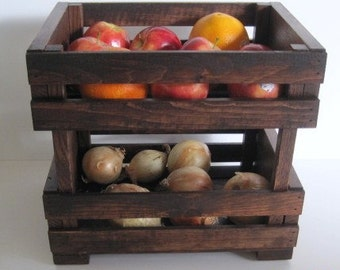 Fruit Crate- Stackable-  Wooden Fruit and Vegie Stand