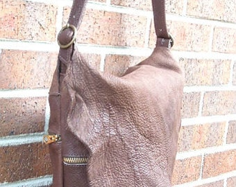 Genuine leather.Chocolaty-Brown Buffalo leather. cross  body  bag. women.spring-summer  style.