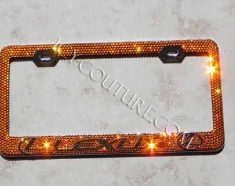 LEXUS Custom Swarovski Crystal Bling License Plate Frames