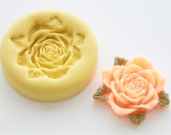 Large Open Rose Silicone Mold
