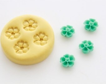 Flower Cabochon Silicone Mold 4 Cavity