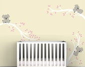 Kids White Tree Decal Wall Decal White Tree Sticker Baby Room Decor - Koala Tree Branches by LittleLion Studio