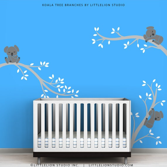 Kids wall decal baby boy room decor blue wall decor kids rooms for 007 room decor