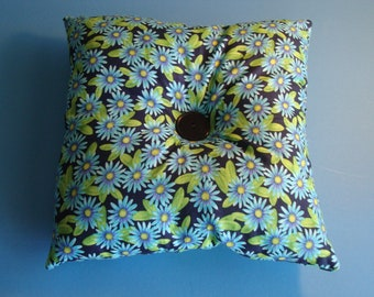 Handmade Vintage-Inspired Floral Pillow