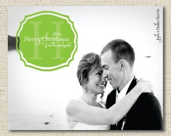 "Custom Photo Christmas Card Holiday Card - ""Forever"""