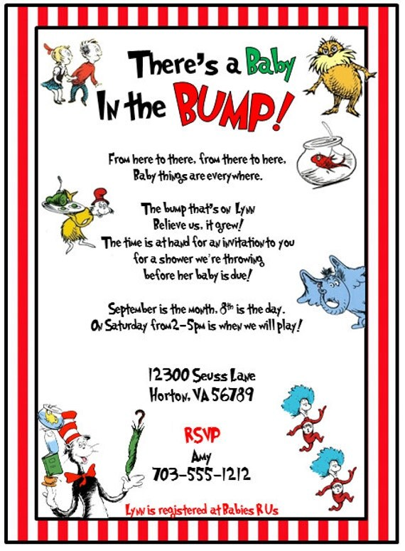 Dr Suess Baby Shower Invitation was awesome invitations design