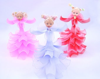 Nylon Flower Dolls (3 Dolls)