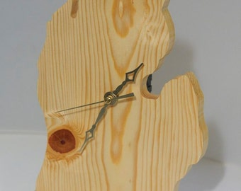 Wooden Michigan Clock