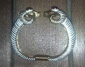 Vintage Kenneth Jay Lane KJL Ram Bracelet Great Holiday Gift w/ Box and Dust Bag