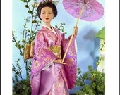FUMIKO 16 A Pattern for Tonner Tyler, Gene and other 15-16 Dolls A classic Kimono pattern