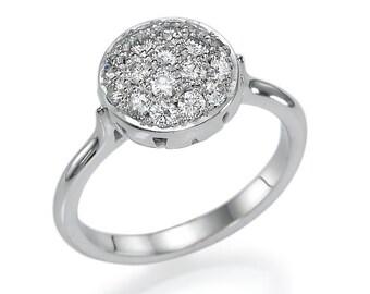 "Unique Diamonds Ring 0.58 carat ""Momentum"" White/ Yellow/ Rose Gold Ring 14k, Natural diamonds"