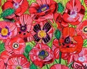 Oil pastel poppies drawing...