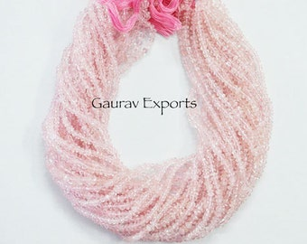 10 strands pack ,Rose Quartz Faceted Hand Cutting 3.50 -5 mm ,14 inch strand