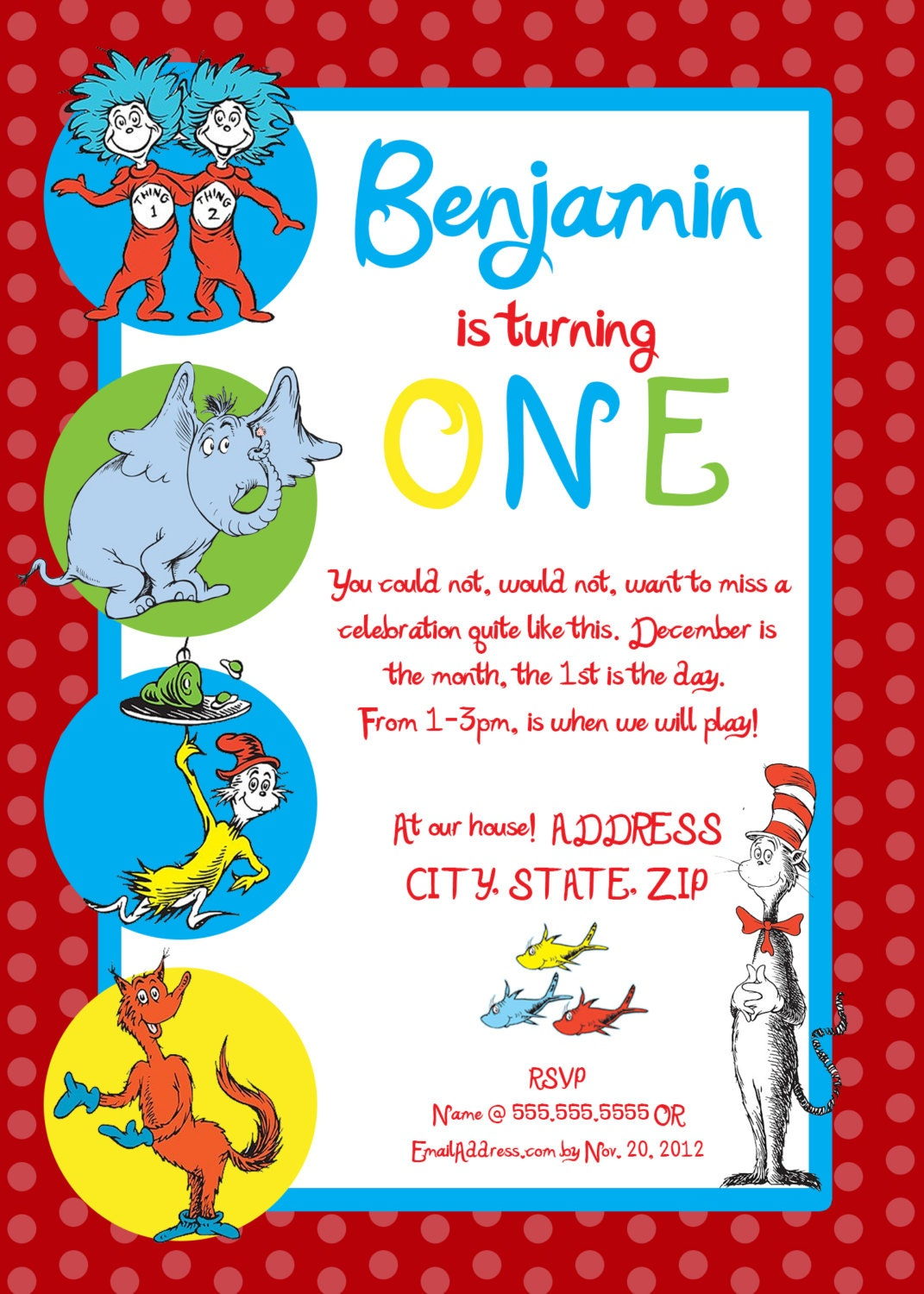 Dr Seuss Party Invitations and get inspiration to create nice invitation ideas