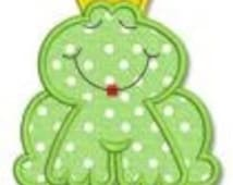Frog Prince/Princess Pucker Up Design Appliqued on a Children's Shirt
