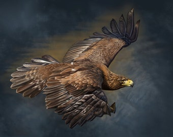 Golden Eagle Painting-Print
