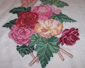 Mixed Floral Bouquet Needle Art - unframed cross stitch