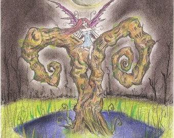 Fantasy Art: Moonlit Fairy