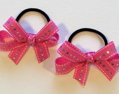 Pink Diva Pony Bow Set - 3 inch bows