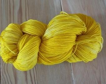 Lemon Yellow Merino Superwash Sock Yarn - Moon Stone Farm