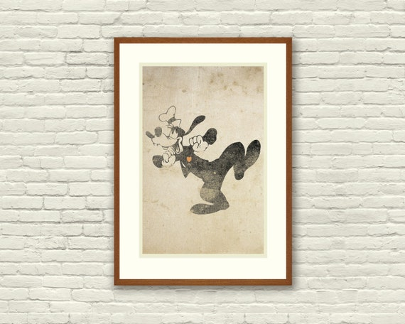 Goofy Inspired Silhouette 11x17 Art Print With Heart Studios