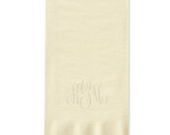 Embossed or Foil Stamped Monogrammed Paper Guest Towels