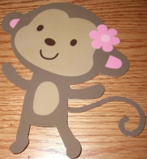 12 Jungle Jill Monkey Baby Shower Decorations All by DebbysCrafts