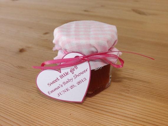 Set Of 12 Baby Shower Favors Jam Jar By JirehCraftyCreations