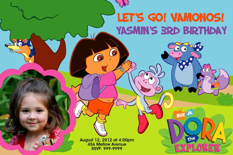 Dora The Explorer Invitations with good invitations example