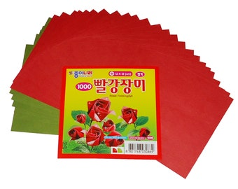 "4.7"" Red Rose Folding Origami Paper 450 Sheets"