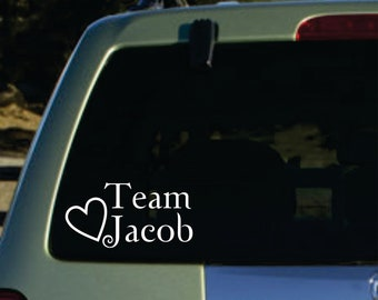 Twilight team jacob  vinyl sticker