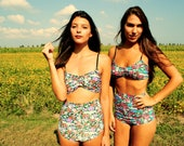 SUMMER SALE High Waisted bathing suit  Made-to-Order