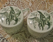 Vintage Ceramic Lily of the Valley Salt and Pepper Shakes
