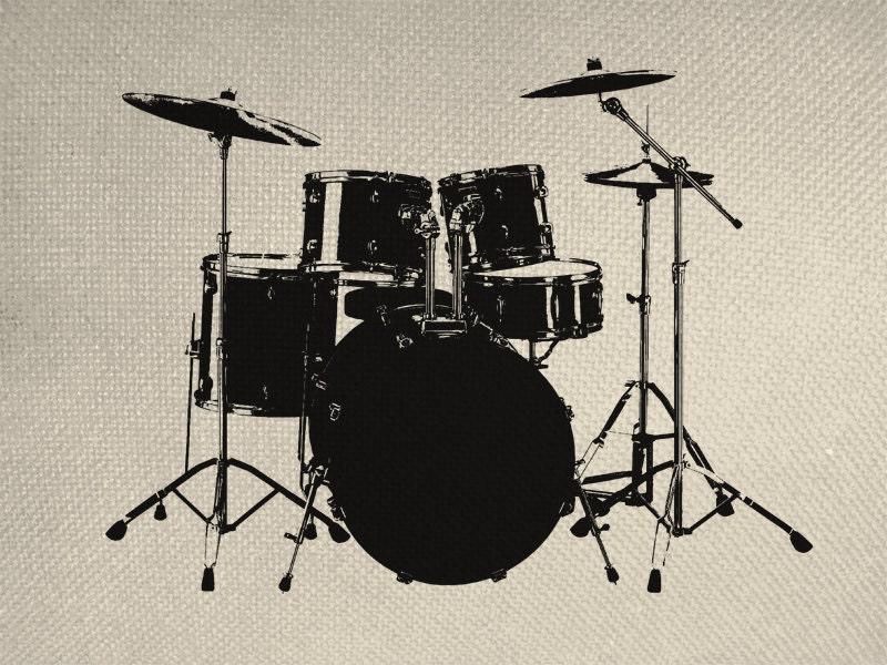 Drum Set Clipart Musical Drum Set Silhouette